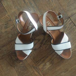 Vintage Fendi platform sandals